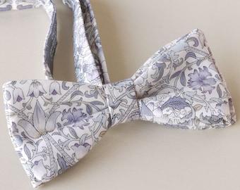 Liberty bow tie - Lodden grey - groom's bow tie - wedding tie - William Morris bow tie