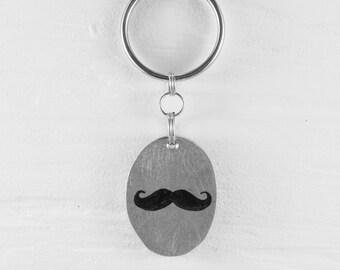 Mustache keychains
