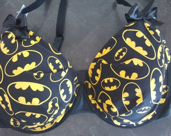Batman Logo inspired bra SET
