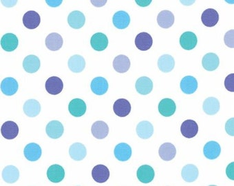 Grow! Cloud Blues white with Blue Polka Dots By Me and my Sisters Designs - Moda Fabrics 22274-20
