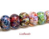 SRA Handcrafted Artisan Lampwork Beads - Borosilicate Orphans/Singles - Set 7