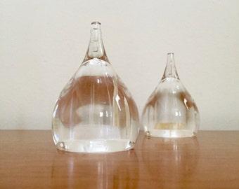 Vintage Mod Guzzini Drop-Shaped Salt and Pepper Shakers