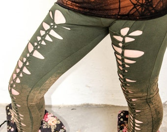 Gorgeous green and brown Mudstomper leggings