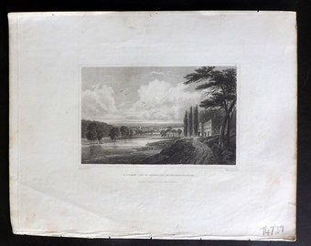 Hinton USA 1832 Antique Print. A Distant View of Skenectady