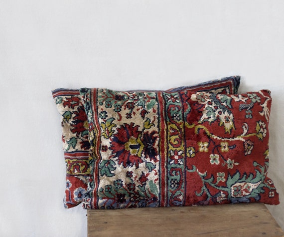 Rug Pillows 12 X 16 SET OF TWO Decorative Pillow Covers