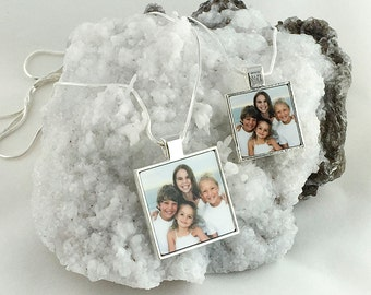 Bezel Square Photo Personalized Photo Charm