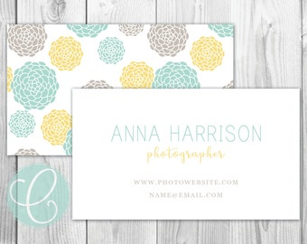 Business Cards / Calling Cards -Printable or Printed - Dahlias