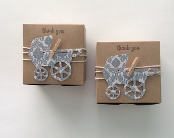 25 Vintage baby shower- baby shower favors - baby carriage baby shower- Ready to ship