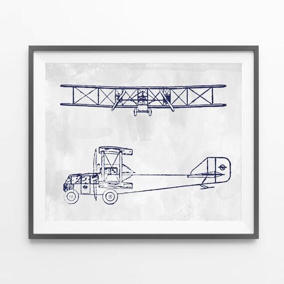 Aviation art print. Airplane wall art. Vintage by ...