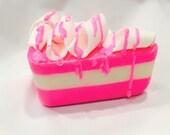 Birthday Cake Scented Soap Cake Slice Any Color