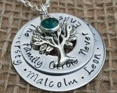 Personalised Christmas Gift, Personalised Necklace, Personalised Gift for Her, Personalised Jewellery, Personalised Family Tree Names