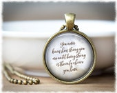 Inspirational Jewelry • Strength Necklace • Awareness Jewelry • Hope Necklace • Quote Pendant