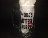 World's Hottest Hubby Valentine Beer Mug
