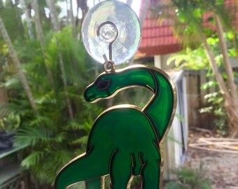 Brontosaurus Glass Etsy