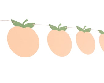 Peach Garland - Peach Birthday Garland - Peach Party Garland - Peach Banner - Georgia Peach Garland - Peaches and Cream Birthday