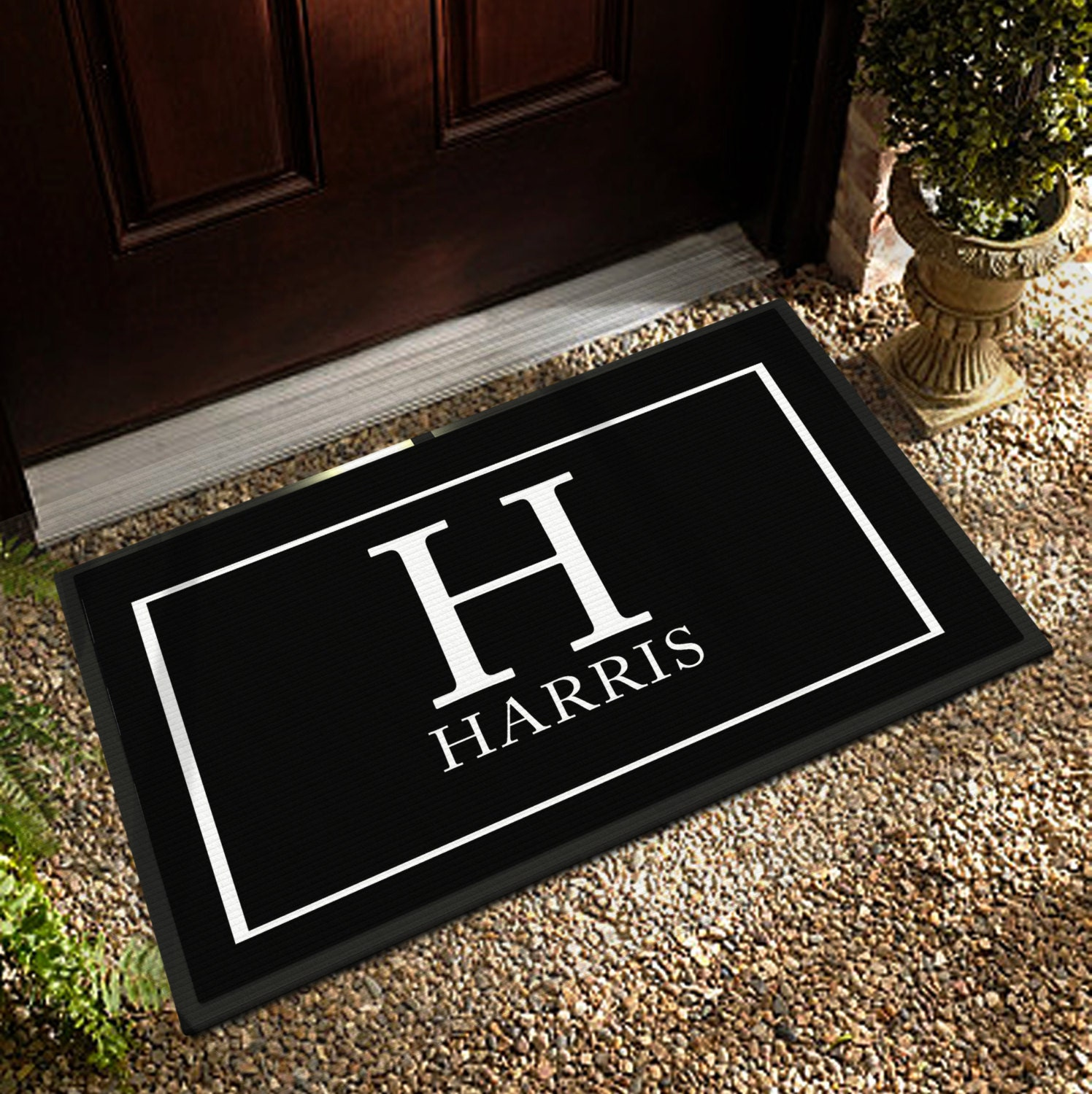 Custom Door Mat 3 Sizes Personalized Door Mat By