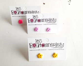 Earrings to buttons - girlys