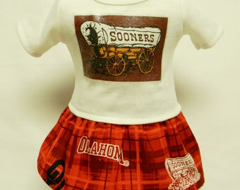 Oklahoma University Sooners Outfit For 18 Inch Doll Like The American Girl