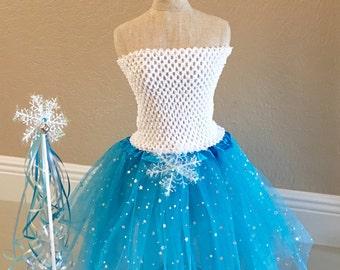 Frozen Tutu, Elsa Costume, Snowflake Tutu, Elsa Dress, Frozen Tutu Dress, Elsa Frozen Dress, Frozen Party Favors, ELSA tutu Dress, tutu