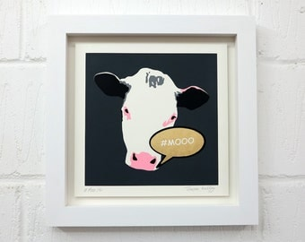 Mooo Grey (Unframed)