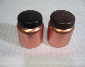 Copper Salt and Pepper Shakers,  Vintage Copper, Salt and Pepper Shaker