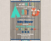 Tribal Baby Shower Invitation package