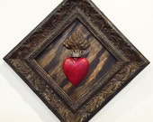 Up-cycled Assemblage Primitive Shrine, Sacred Heart
