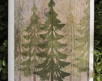 Trees Mountain Top Birthday Card - FREE SHIPPING