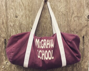 Vtg mini duffel McGraw school bag
