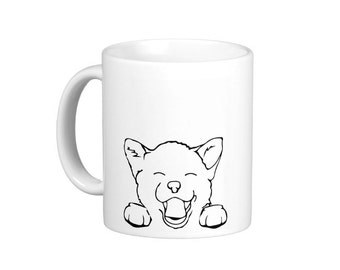 Smiley Happy Puppy Coffee Mug, hs0286