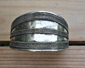 FREE Shipping Afghan Ethnic tribe cuff bracelet- Jewelry- Cuff bracelet- Statement cuff- Afghan jewelry- German silver Bracelet