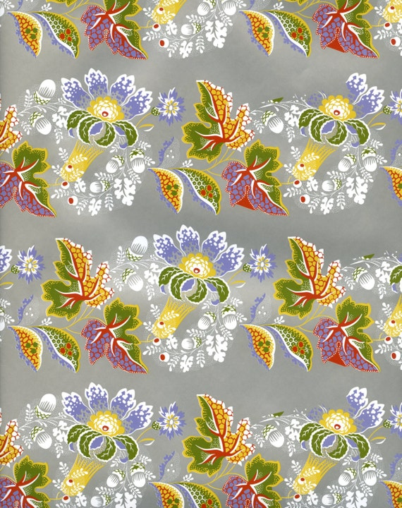 Floral decorative paper gift wrap by