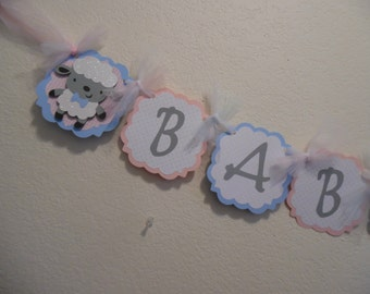 Gender Reveal Banner- Gender Reveal Baby Shower