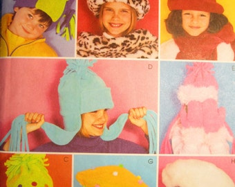 Fleece Hat, Mittens, and Scarves: McCalls Pattern 3404 for Children