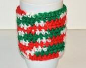 Christmas theme coffee mug cozy, Holiday coffee sleeve, Coffee mug warmer, Gift for her, Gift for him, Ready to ship