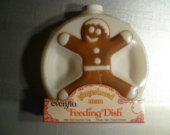 Vintage Gingerbread Man  Evenflo Feeding Dish
