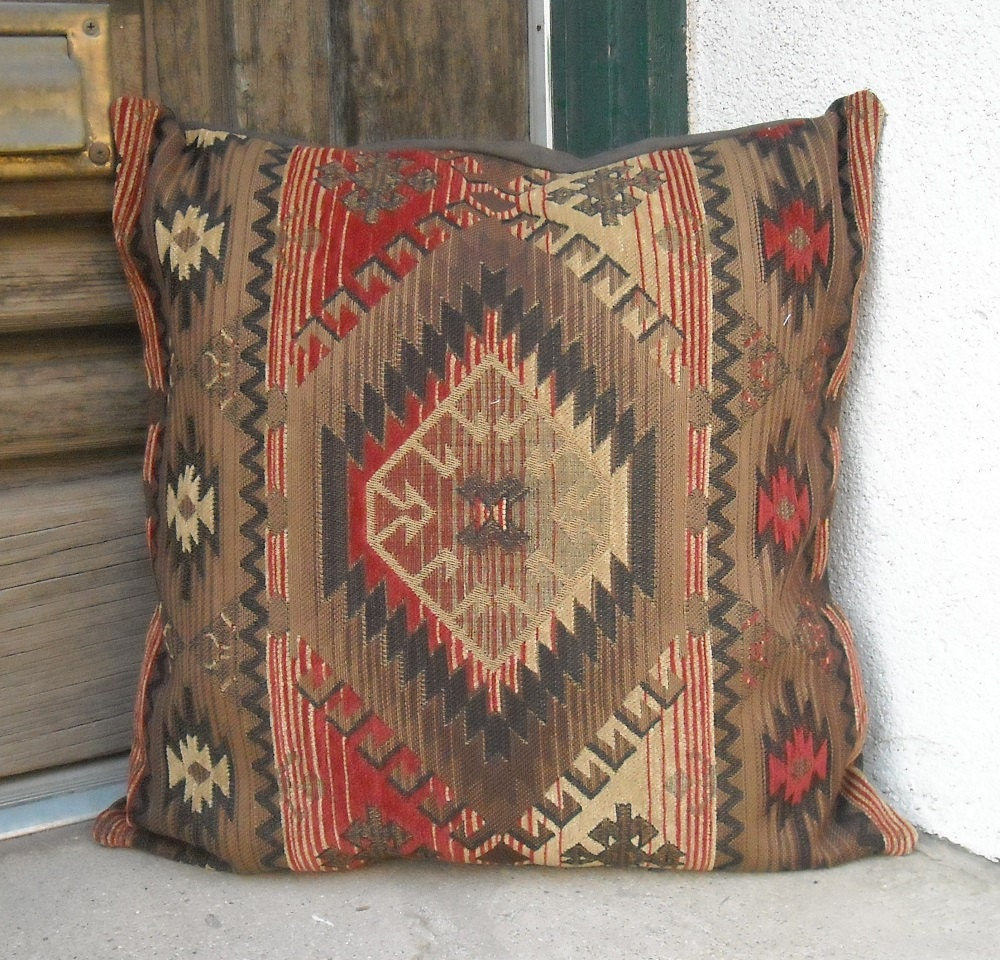 Southwestern Pillows And Throws : Southwestern Pillow Cover 18 x 18. Luxurious