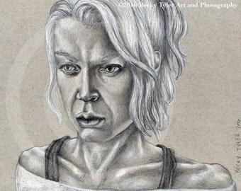 Andrea, The Walking Dead, Fine Art Print, 8x10