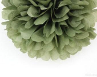 LIGHT SAGE GREEN / 1 Tissue Paper Pom / Wedding, Bridal or Baby Shower Decor / Gender Reveal / Nursery Decor / Crib Mobile / Fall Decor