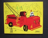 Vintage Playskool Firetruck Puzzle Model 360 26