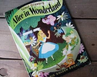 ALice in Wonderland Vintage Big Golden Book 1973
