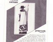 Muumuu Dress, Mexican Dress, Jeffrey Barr Sewing Pattern, Hawaii Pattern, Multiple Sizes