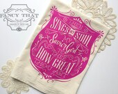How Great Thou Art / Then Sings My Soul. Hymn Natural Cotton Flour Sack Tea Towel. Hymn Art. Hostess Housewarming gift. Kitchen gift