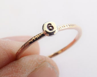 Initial Ring, Personalized Stacking Rings, Personalized Rings, Stacking Rings, Hand Stamped Ring, Swirl Ring, Letter or Number Rings, Gift