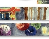 1 Roll Limited Edition Washi Tape: Japanese Shinto shrine and Light Fest