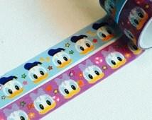 2 Rolls Japanese Disney Tsum Tsum Washi Tape: Donald Duck and Daisy Duck