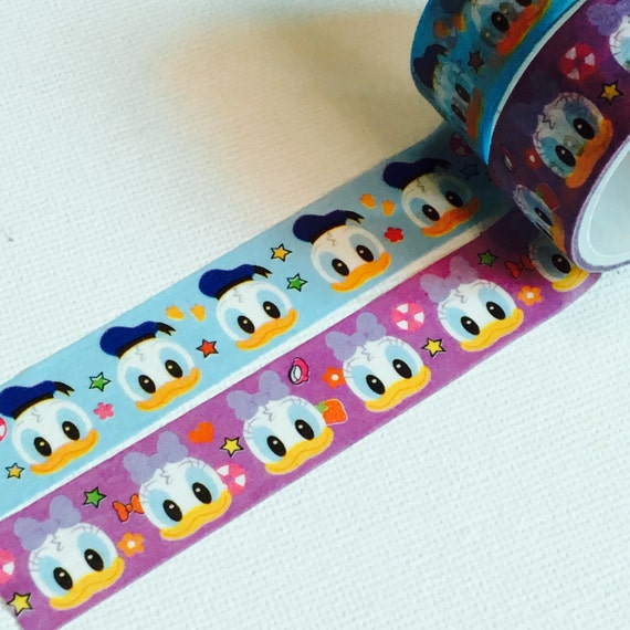 2 Rolls Japanese Disney Tsum Tsum Washi Tape: Donald Duck and Daisy Duck