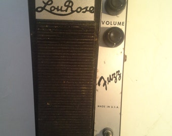 Vintage FUZZ pedal   circa 1970's   Lou Rose Music Store  Unknown Components  Made in USA