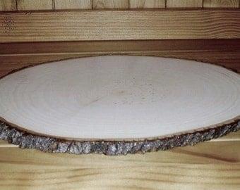 Rustic Wood Tree Slice Centerpiece, Wood Tree Slab,  Rustic Wedding Centerpiece