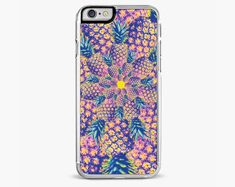 PINEAPPLE SPIRAL iPhone 6S case cool iphone 6 case iPhone 5 Case iphone 5s case purple iPhone 5C Case iphone 7 case